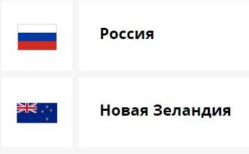Россия Новая Зеландия